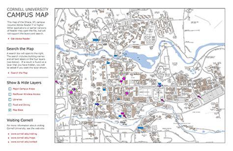 cornell cus map cornell map my