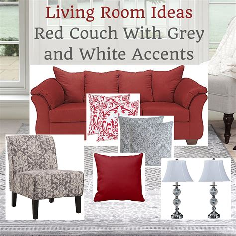 red home decor accents living room ideas red couch modern house