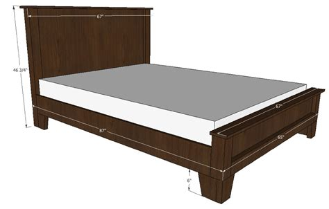 bed plans queen bed plans bed plans diy blueprints