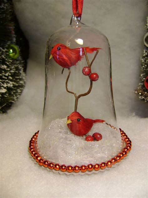 christmas tree ornaments cardinals and martha stewart on