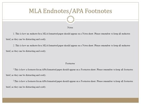 Footnote Format For Mla | mla footnote format