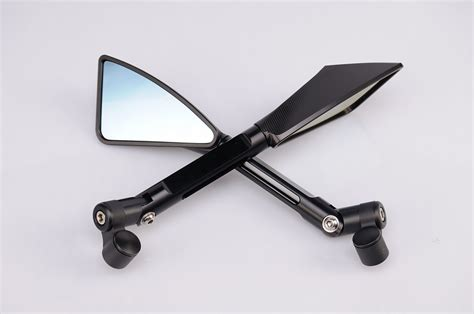 Spion Tomok Cnc Blue Mirror sport bike racing parts performance sportbike custom levers rear sets billet mirror sport bike