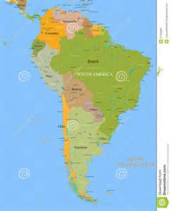 south america map detailed map south america vector detailed royalty free stock