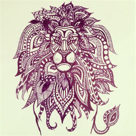 zentangle lion pattern zentangle lion zentangle art pinterest zentangle