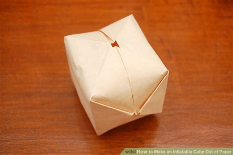 Make A Cube With Paper - how to make an cube out of paper 11 steps