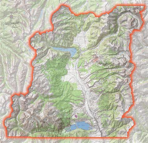 topographic map of custom topographic maps lake county summit county colorado