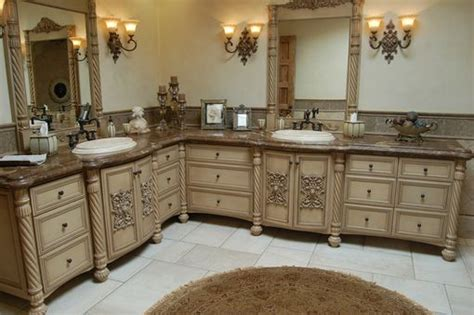 faux finish bathroom cabinets handmade custom faux finish master bathroom cabinets by