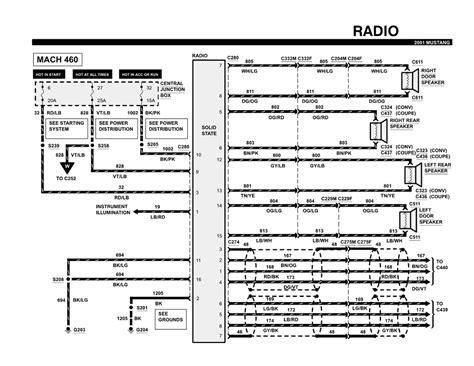 1999 ford mustang wiring diagram 2001 mustang starter