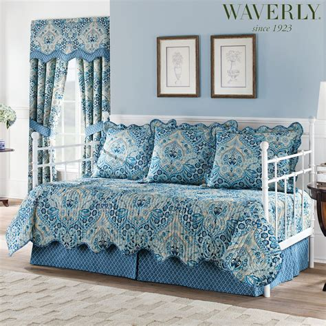daybed comforter sets moonlit shadows reversible quilted blue daybed bedding set by waverly