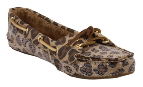 sperry fleece lined boat shoes sperry top sider skiff womens leopard print sequence