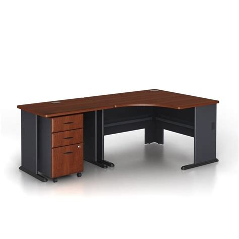 Corner Desk Cherry Bush Business Series A 3 Corner Computer Desk In Hansen Cherry Wc90466a Pkg1