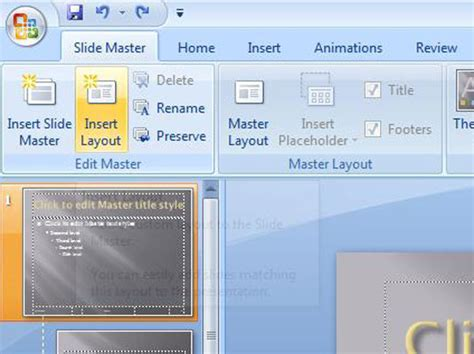 layout slide powerpoint 2007 how to add new layouts to the powerpoint 2007 slide master