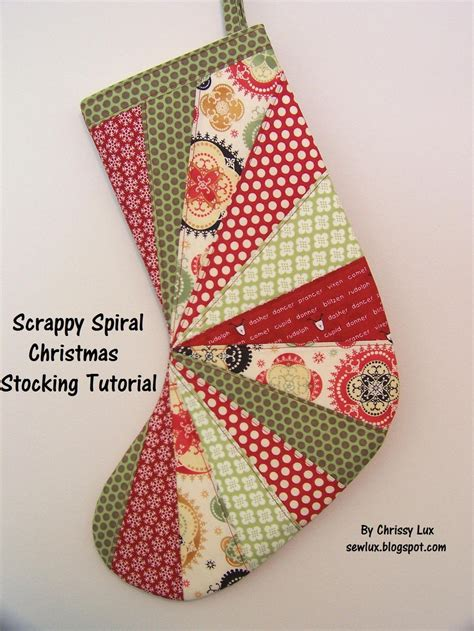 quilt patterns for christmas stockings free scrappy spiral christmas stocking extralarge1000 id