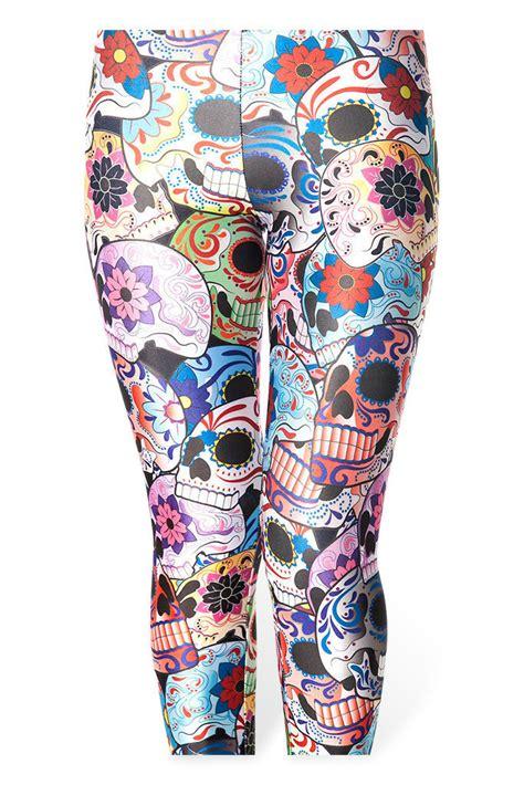 pattern leggings of woven death women leggins skull leggings day of the living dead drop