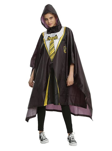 harry potter house robes harry potter hufflepuff house robe poncho hot topic