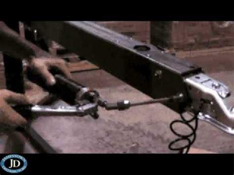 four winns boat trailer brakes tie down marine 70lp brake actuator replacement youtube
