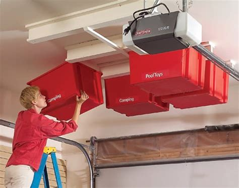 Ceiling Garage Storage Systems by Overhead Storage System On The Garage Ceiling