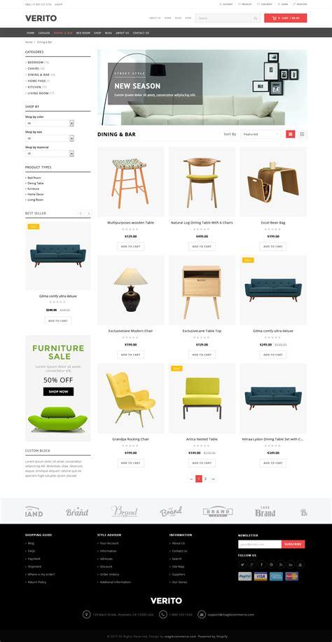 shopify upgrade theme verito furniture store shopify theme template
