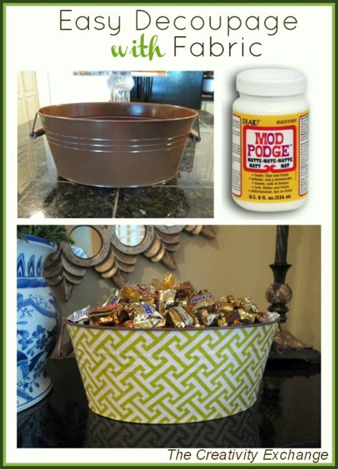 How To Decoupage Metal - easy decoupaging with fabric treat