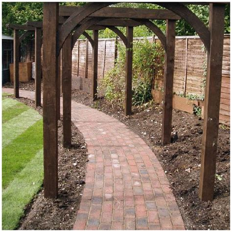 curved path with sea sand bricks arbour pinterest