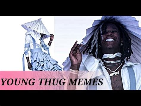 jeffrey young thug young thug jeffrey album cover art memes wearing a dress