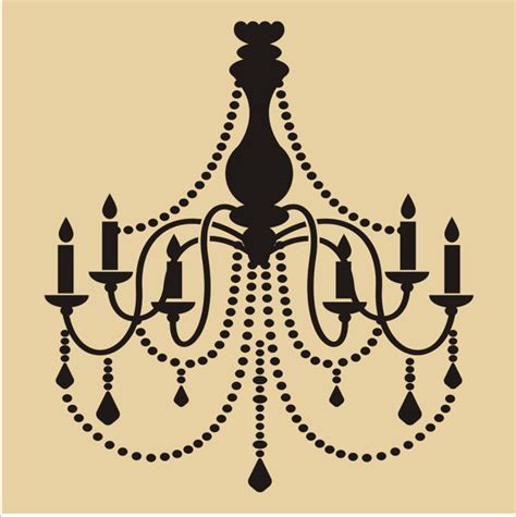 Chandelier Wall Stencil Chandelier Reusable Stencil 6 Sizes Available Wall
