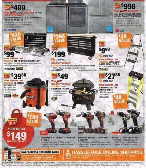 home depot 2016 black friday ad black friday archive