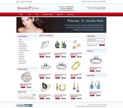 css templates for jewellery website jewelry magento template templates master