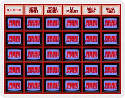 jeopardy board template jeopardy board images search