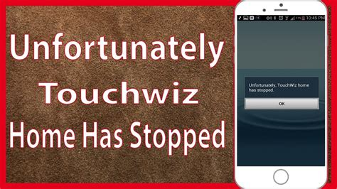 fix unfortunately touchwiz home has stopped error on