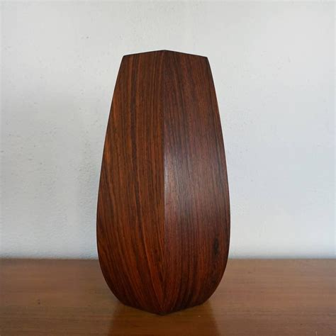 1950s rosewood hexagon shaped vase for sale at 1stdibs