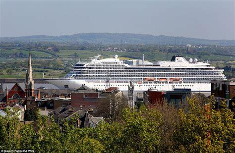 long boat cruises europe viking seap sails up river thames on her way to a naming