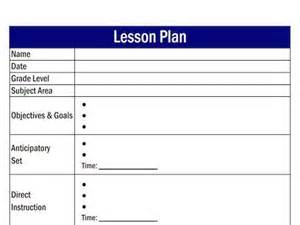 create a lesson plan template search results for daily lesson plan template
