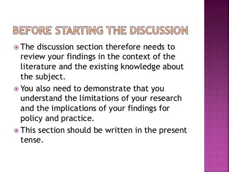 discussion section writing dissertation discussion section