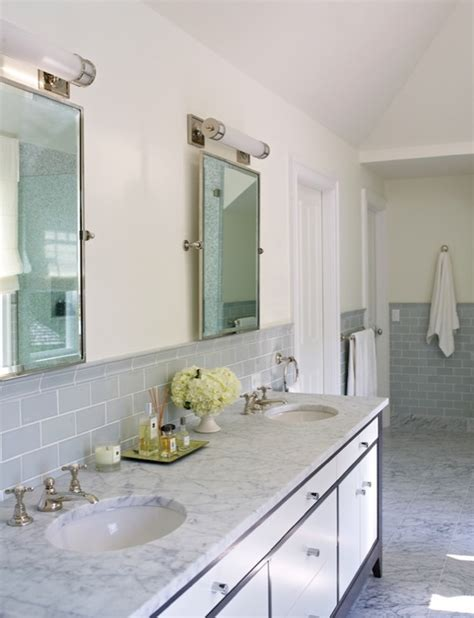 gray glass mosaic tiled backsplash transitional bathroom gray subway tile backsplash transitional bathroom