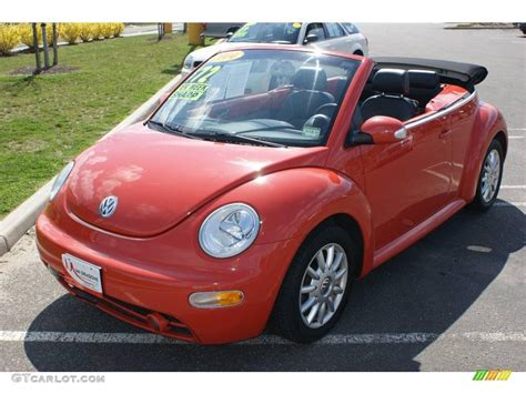 orange volkswagen beetle 2004 sundown orange volkswagen new beetle gls convertible