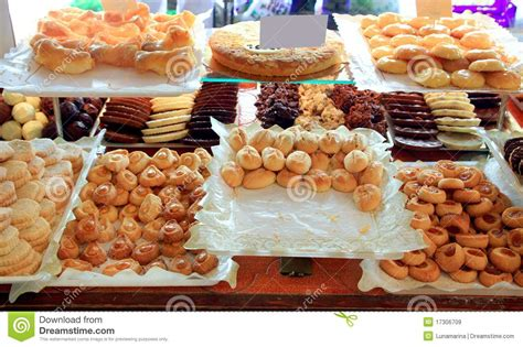 Spains Patisserie by Cake Pastries In Bakery Typical From Spain Royalty Free