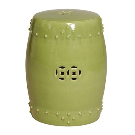 Garden Drum Stool by Emissary 1255lm Drum Garden Stool Lime Large