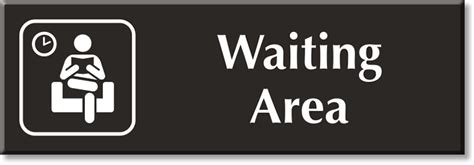 sings in hospital waiting room waiting area signs waiting area door signs