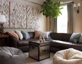 leather decor decorating around a leather sofa centsational