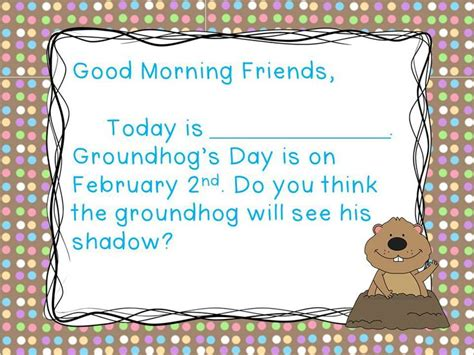 Groundhog S Day Morning Messages Mornings Groundhog