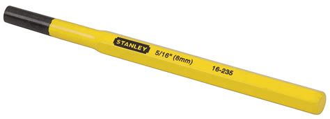 Pin Punch Stanley 16 231 1 8 stanley pin punch 1 4 x 3 8 in 6aue2 16 234 grainger