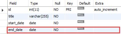 mysql date format returns null mysql not null constraint