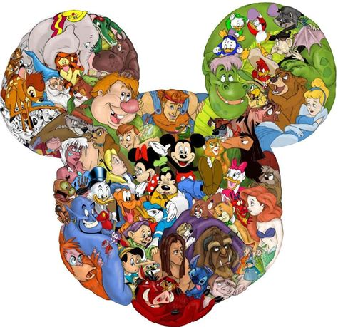 disney removable wallpaper mickey mouse shape disney characters decal removable wall