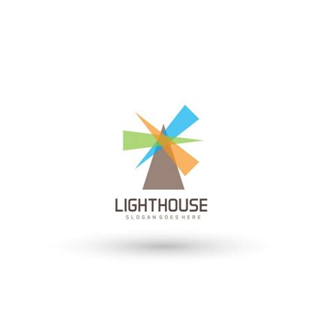 lighthouse logo template vector free download