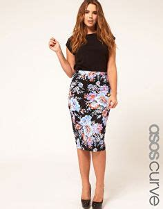 Midi Hanbok Skirt bodycon floral panel dress black asos curve plus size