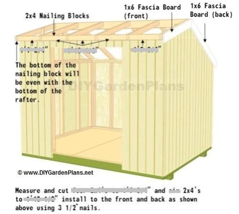 Shed Fascia by Fascia And Soffit Saltbox Shed Plans Page 10