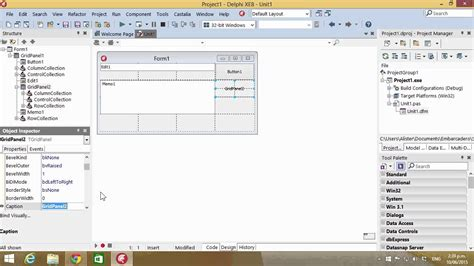 tutorial crystal report delphi delphi tutorial 111 using tgridpanel to control