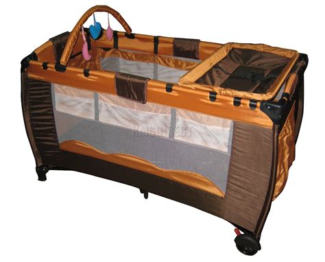 portable cot bed new portable child baby travel cot bed bassinet playpen