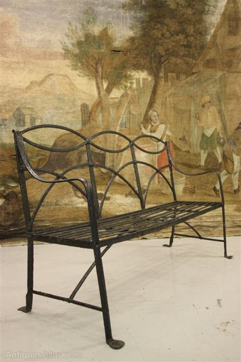 vintage wrought iron bench antiques atlas regency antique wrought iron garden bench